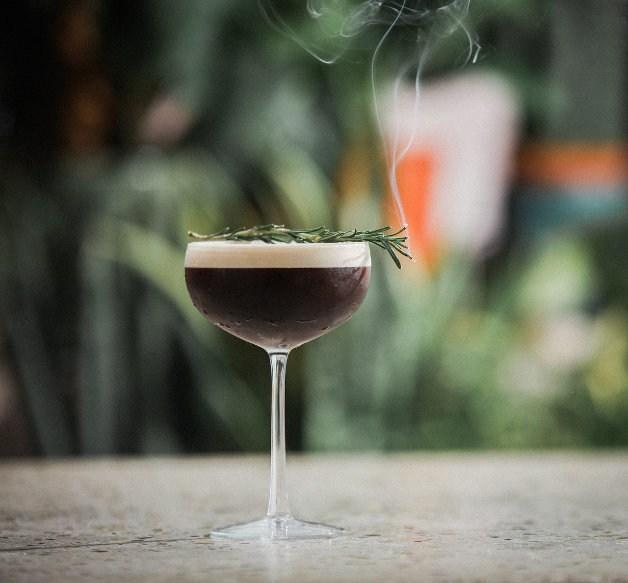 Smoked Rosemary Espresso Martini